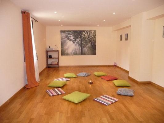 Un espacio acogedor para disfrutar de las sesiones de Biodanza.