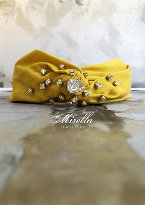 Mrs. Alameda Headband with Swarovski crystals