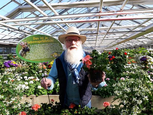 Foto: Petra Schweim - Gartenbotschafter John Langley