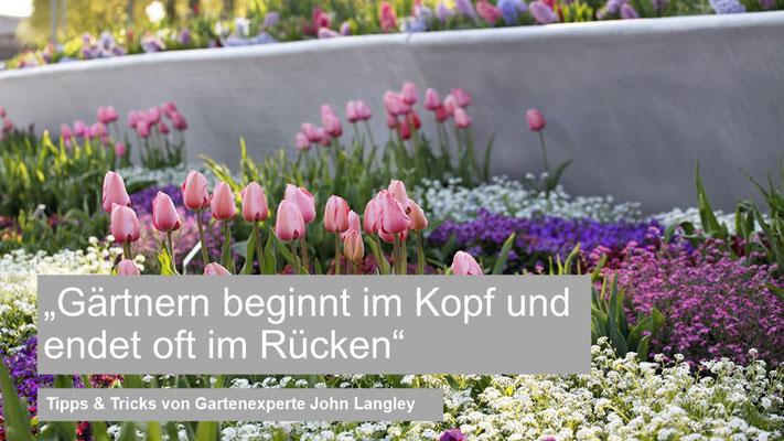 """PK - Agentur für Kommunikation GmbH (Digitale Launch-Pressekonferenz) Gartenbotschafter John Langley  - Thema: """"Gärtnern beginnt im Kopf und endet oft im Rücken"""""""