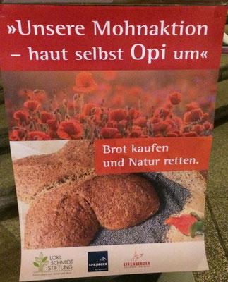 Spendenaktion für Hamburger Ackerwildblumenprojekte.