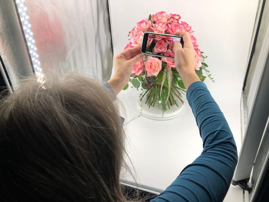 Visualisierung + Planung + IMPULSE = Petra Schweim ist mit ihrer Fotobox auf Augenhöhe