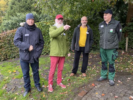 Foto: Petra Schweim - (li nach re) Axel Jahn, John Langley, Lothar Frenz, Helge Masch