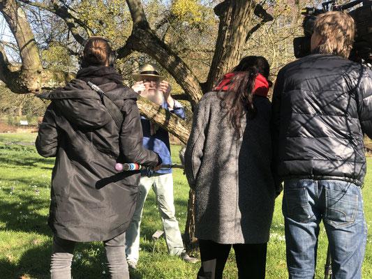 Loki Schmidt Garten - Dreharbeiten NDR / DAS - Foto: Petra Schweim