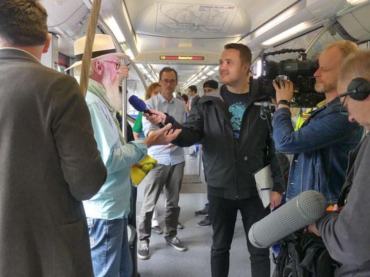 Zug des Wissens - NDR Hamburg Journal - Foto Petra Schweim