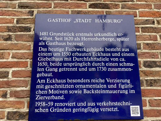 Alteste Gaststätte Hamburgs von 1550 - Foto: Petra Schweim