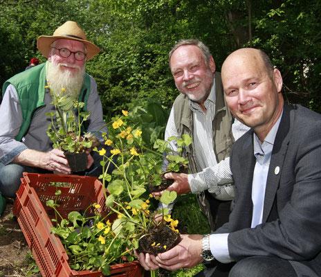 Foto: Andreas Bock -  Dr. Hans-Helmut Poppendieck, GF der LSS Axel Jahn im Loki Schmidt Garten der igs2013 in Hamburg