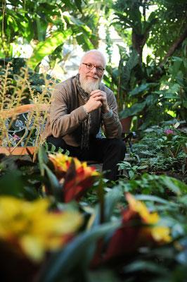 Foto: Bertold Fabricius - Gartenbotschafter John Langley im Botanischen Garten / Hamburg