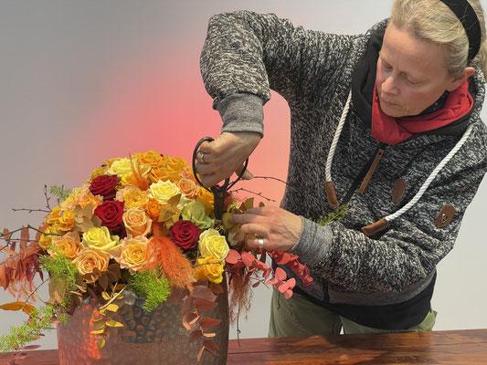 Foto: Petra Schweim - Floristmeisterin Anke Schlumboom aus Handorf.