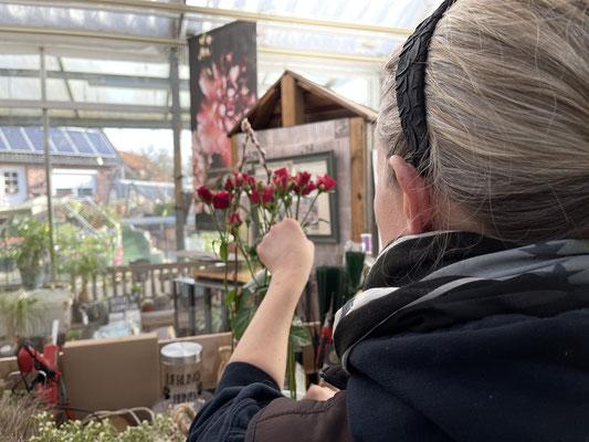 """Foto: Petra Schweim - Fotoproduktion """"in Namen der Rose"""" mit Anke Schlumbom und dem Decoteam John&Petra"""
