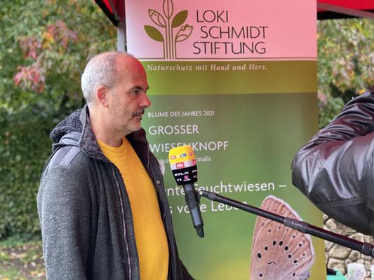 Foto: Petra Schweim - Loki Schmidt Botschafter, Biologe und Journalist Lothar Frenz