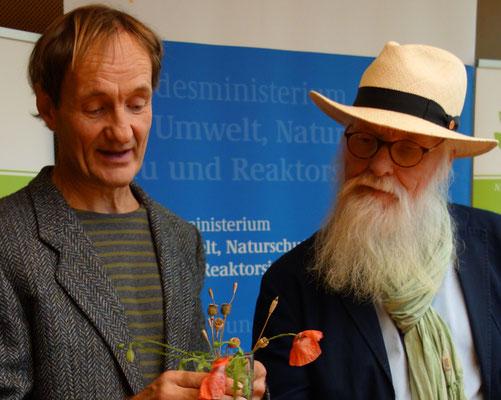 Foto: Petra Schweim - Extrembotaniker Jürgen Feder / Gartenbotschafter John Langley
