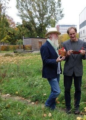 Foto: Petra Schweim - Jürgen Feder und John Langley in Berlin / Loki Schmidt Stiftung