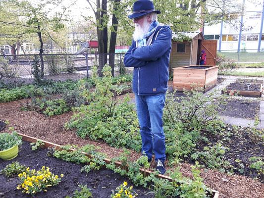 Foto: P.S. Sander Schule in Bergedorf - Vorbesprechung mit der Lehrerin Gabi Hänyes