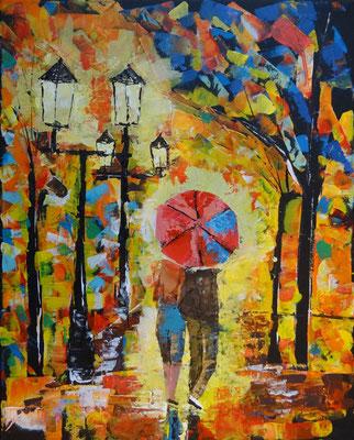 40 x 50 | Walking in the rain