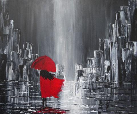 60 x 50 | Walking in the rain II