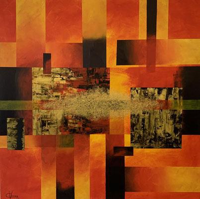 100 x 100 | Abstrakt in Form orange