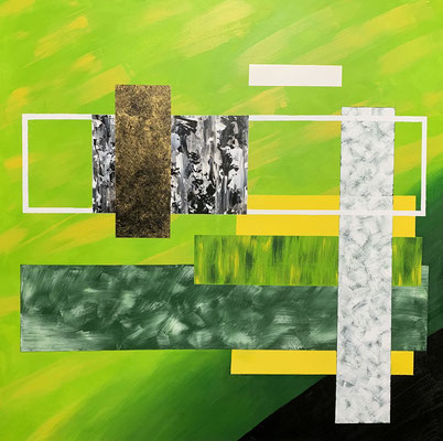 100 x 100 | Abstrakt in Form green