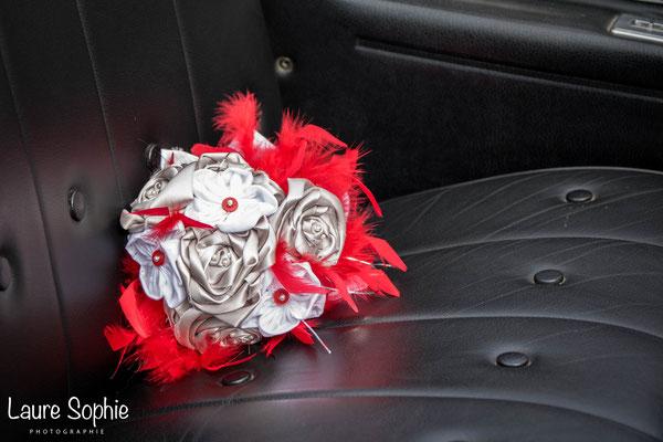 Marion et Ludovic, Toulouse. Bouquet et accessoires de mariés La mariée en fleur