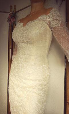 Robe de mariée sur mesure par Mzelle Zo, partenaire de La mariée en fleur