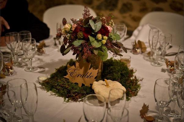 Décoration florale mariage d'automne par Mon rêve fait main, mariage éco-responsable