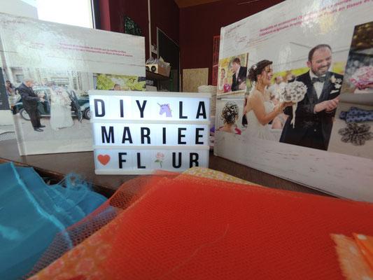 Atelier DIY Couronnes de fleurs en tissus par La mariée en fleur au Magnolia Café créatif à Toulouse