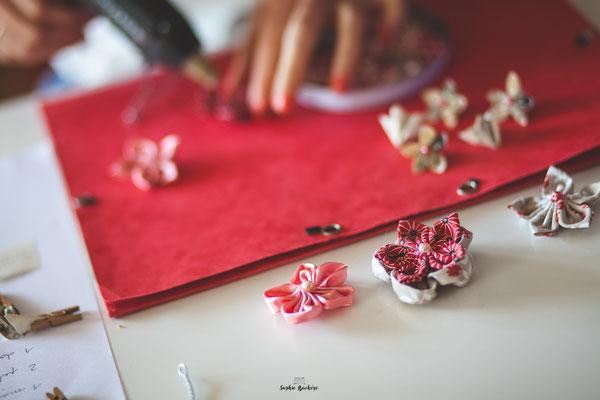 Delphine Hingue, La mariée en fleur, confection artisanale et sur mesure de bouquets de mariées originaux et intemporels