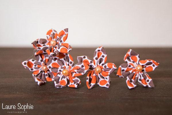 Epingles à chignon en fleurs en tissu, mariage d'automne