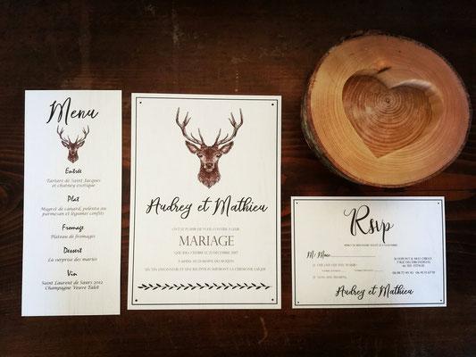 Carterie Mon rêve fait main, décoration de mariage personnalisée et éco-responsable, thème forestier