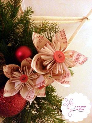 Etoile de porte originale, Noël. Fleurs en papier partitions par La mariée en fleur