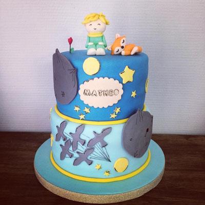Gâteau baptême Matheo par Esquimo et Pinata: thème le Petit Prince