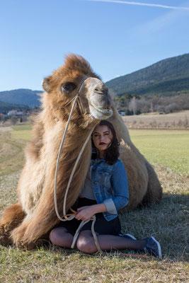 Anna / Achmed, photo: Anna Grünauer, Kamele Österreich