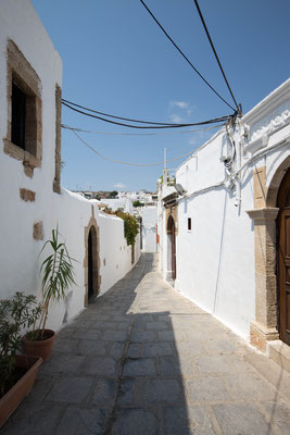 Straße in Lindos, photo Anna Grünauer