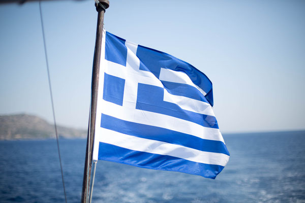 Griechenland Fahne, photo: Anna Grünauer