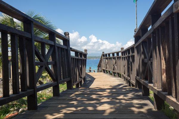 Weg zum Strand Dominikanische Republik, Sosua