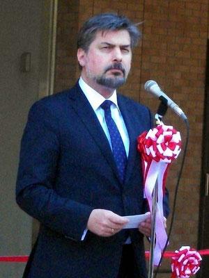 駐日ポーランド共和国大使ツィリル・コザチェフスキ氏