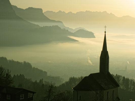 WIDMER Beda, Blick übers Rheintal oberhalb von Dornbirn