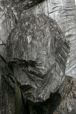Horvath Josef, Skulptur an der Fluchtstraße von der Brücke von Andau