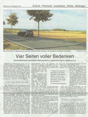 Wetterauer Zeitung, 19. Dezember 2018