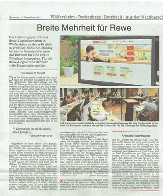 Wetterauer Zeitung, 12. Dezember 2018