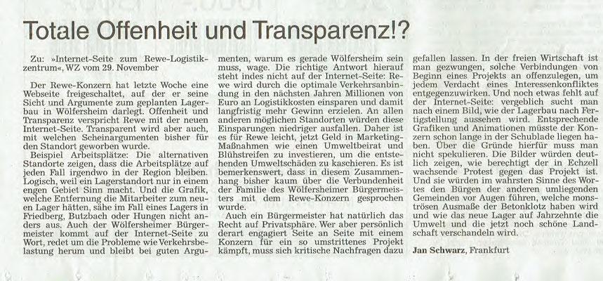 Wetterauer Zeitung, 8.12.2018