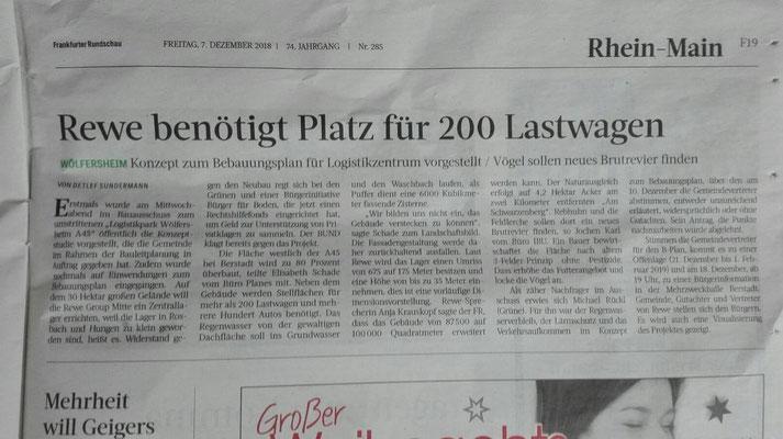 Frankfurter Rundschau, 7. Dezember 2018