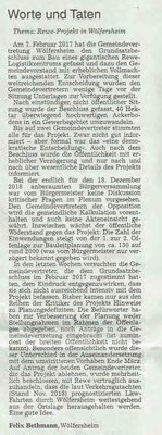 Wetterauer Zeitung, 3. Mai 2019