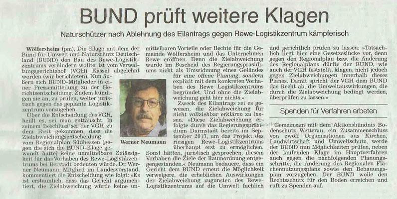 Wetterauer Zeitung, 21. September 2019