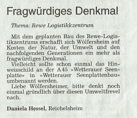 Wetterauer Zeitung, 31. Oktober 2018