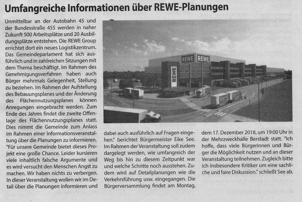 Wölfersheimer Gemeindespiegel, 9. November 2018