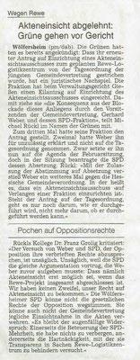 Wetterauer Zeitung vom 16. Februar 2019