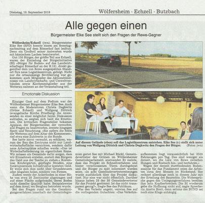 Wetterauer Zeitung, 18. September 2018