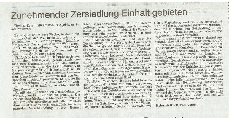 Wetterauer Zeitung, 3.2.2018
