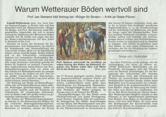 Wetterauer Zeitung, 26. Oktober 2018